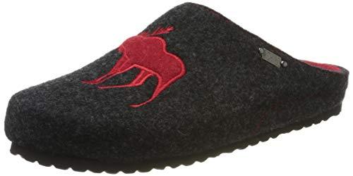 Supersoft Damen 522 170 Pantoffeln, Grau (Dk. Grey 256), 41 EU