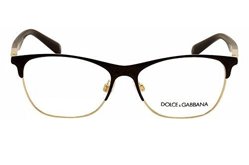Dolce & Gabbana Women's DG1246 Eyeglasses Matte Black/Gold 53mm