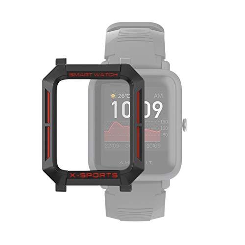 YANTAIAN para Huami Amazfit Bip Lite Versión 1S / Caja Protectora Bip S Inteligente Reloj de TPU, Color: Negro Rojo