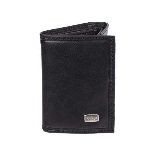 Dockers Men's Extra Capacity Trifold Wallet, Black Jack, One Size