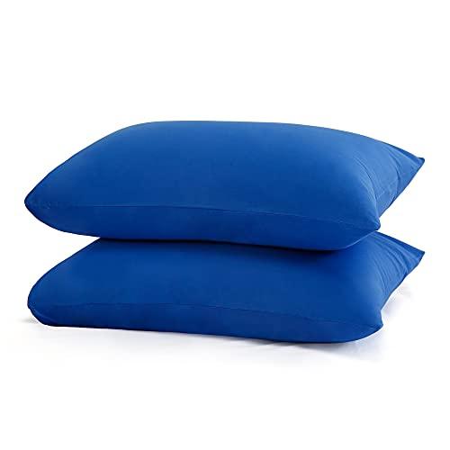 Best Season - Funda de almohada (50 x 75 cm, 2 unidades, 100% algodón, suave y sedosa, tejido de punto de jersey, transpirable y antiestático)