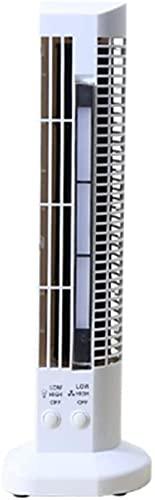 GKJ Tower Fan con para el hogar y la oficina 2SPeed Fan Oscilating Fan 360 Personal Air Circulator Fan de enfriamiento para el Dormitorio Desktop Energy Eficient- Blanco (Clase Energy A) Blanco-blanco