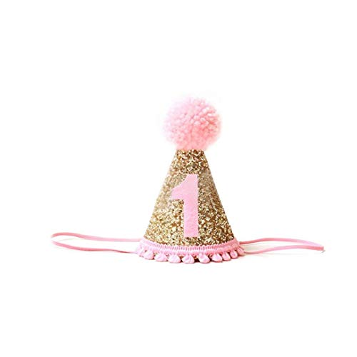 1ras fuentes de la fiesta de cumpleaños del bebé sombrero infantil Multi Función Princesa Hairband del bebé niña de las flores delicadas accesorios del pelo del partido de los sombreros del bebé