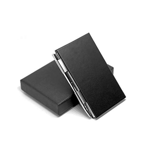 MF accessible trends Leather Pocket Notepad Steel Case Holder with Pen and Refillable Paper for To Do Lists and Note Jotting (The Expert)