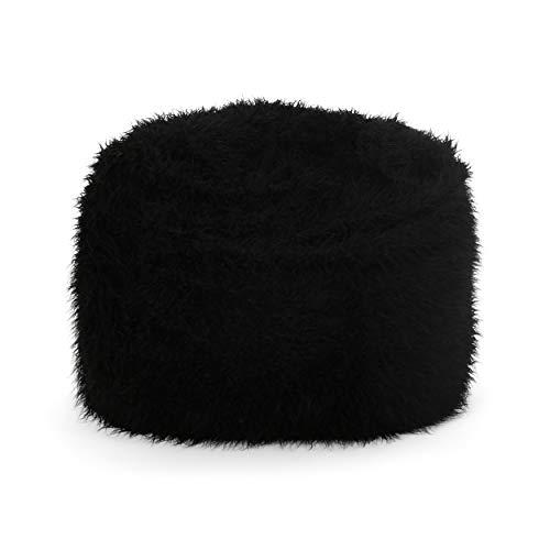 Christopher Knight Home Faux Fur Faux Fur Beanbag, 5', Silver Grey
