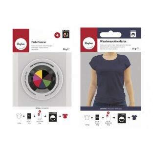 Rayher Fixator + textielverf voor wasmachine - jeansblauw