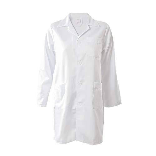 Kiz Kiz Bata de Laboratorio Manga Larga Blanca Abrigo Médico Doctoras Científico...
