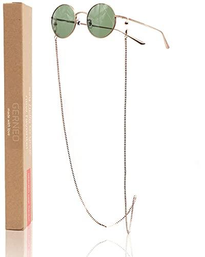 GERNEO® - Barcelona – Maskenhalter & Brillenkette Roségold - korrosionsbeständig – einzigartig hochwertige Brillen Kette & Brillenband für Sonnenbrille & Lesebrille - Brillenkette mit Karabiner