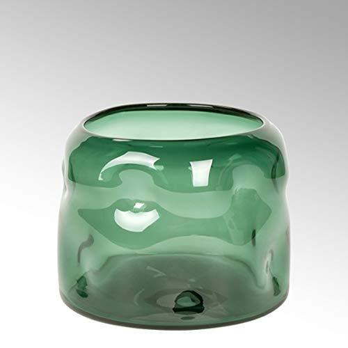 Lambert - Vase Carracci - Smaragd - H19 x D 26 cm - Farbglas