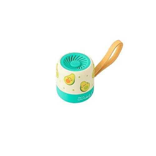 Mr. Wonderful Mini Altavoz Bluetooth Inalámbrico con diseño de Aguacates con 3-4 horas de autonomía, Color Amarillo y Verde