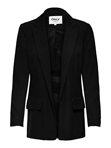 ONLY Damen ONLLARIA-EVIA LS Long CC TLR Blazer, Black, 36