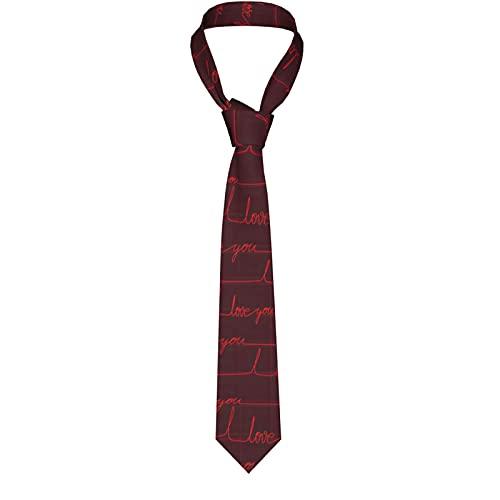 KXT Love Cardio Men's Funny Neckties,Christmas Decorations Fashion Boys Cravats Tie,Classic Necktie for Wedding Party Business