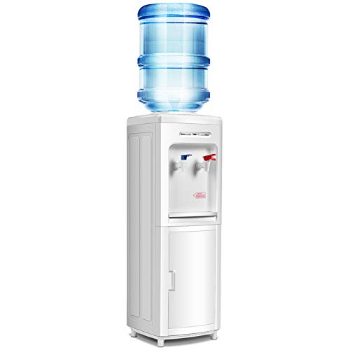 Safeplus Top Loading Water Cooler Dispenser , Hot & Cold Freestanding Water Cooler , Holds 3 or 5 Gallon Bottles Perfect for Home Office School ,UL & Energy-Saving Approved