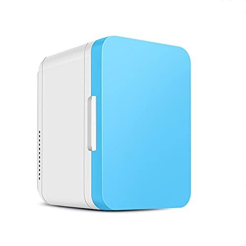 Mini-Frigoríficos Refrigerador doméstico para automóvil, Dormitorio refrigerador Compacto para el hogar calefacción y refrigeración refrigerador pequeño 8 litros,Blue,28.8 * 26.5 * 19.2