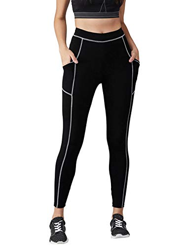 BLINKIN Yoga Gym Workout and Active Sports Fitness Contrast Binding...