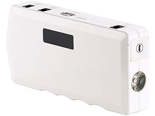 reVolt Auto Starthilfe: Notebook-Powerbank m. Kfz-Starthilfe, Notfall-Hammer, 10.000 mAh/400 A (Starthilfe Booster)