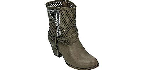 Conway Damen Stiefel/Stiefelette Softsynthetik, RV, 55 mm Absatz, TR-Sohle in grau, Größe 39.0, LW1