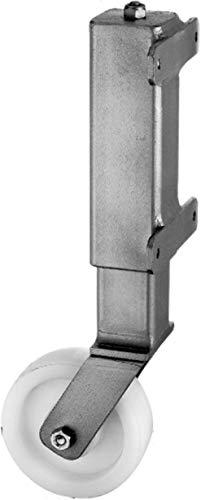 GAH-Alberts 416867 - Rueda para portadas y puertas de jardín pesadas y anchas (soporta hasta 450 kg, metal galvanizado en caliente, atornillable, 125 mm de diámetro)