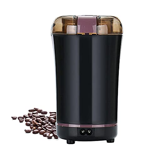 RRH Coffee Grinder Electric Spice Grinder Portable One-Touch Control Grinder with Stainless Steel Blade for Coffee Bean Dry Herb Spices and Seeds, Black