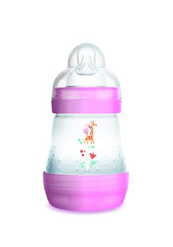 Mam - Biberon anti coliche, 160 ml, 0-6 mesi, flusso tipo 1, colore: Rosa