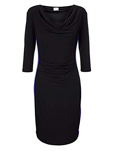 Alba Moda Damen Kleid Schwarz 40 Kunstfaser