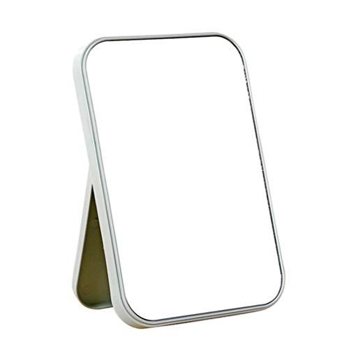 Lurrose Specchio da Trucco cosmetico da Tavolo Pieghevole per Specchio da Trucco