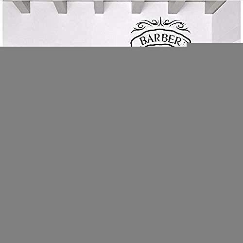 Peluquería de dibujos animados Tijeras Bigote Peluquería Salón de belleza Corte de pelo Salón Arte de la pared Etiqueta de vinilo Ventana Decall 42X56Cm Pegatinas de pared Papel pintado 3D