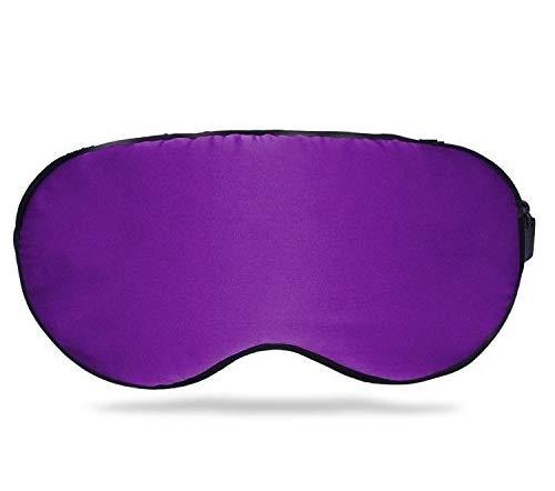 Haari's Silk EYE Mask Sleep Mask Filled with 100% Mulberry Silk For Men Women Unisex | Blindfold, Light Blocker, Super-Smooth Eye Mask, Eye Shade/Cover for Naps, Insomnia, Dry-Eye Sufferers-[PURPLE]