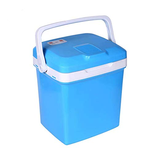 Draagbare koelkast, auto-koelkast, 26 l, verwarmingsbox en koelbox, klein, koelkast Blauw