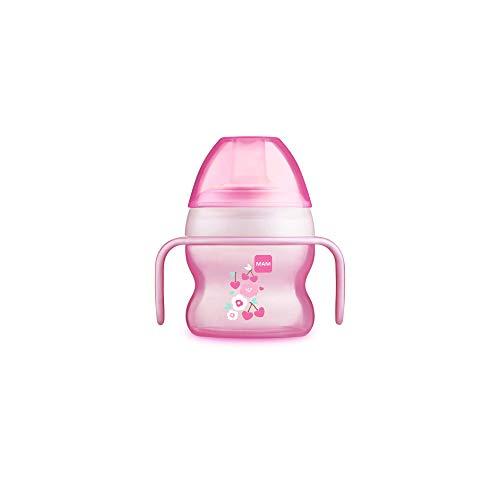 MAM Vaso Starter Cup D118 - Vaso de Aprendizaje con Boquilla y Asas Antideslizantes para Bebés a partir de 4 meses 150ml - Rosa