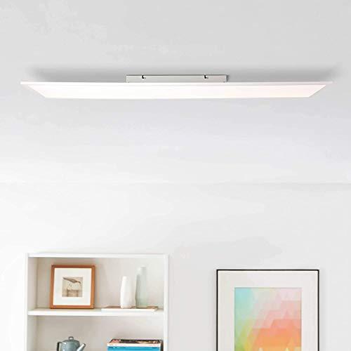 Pannello LED da soffitto, 120 x 30 cm, bianco, 40 Watt, 5200 lumen, 4000 Kelvin, metallo/plastica, bianco/bianco freddo