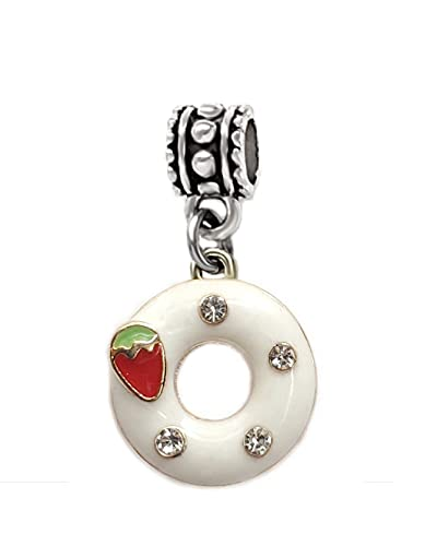 Dangle Donut with Strawberry and Frostings Charm Bead