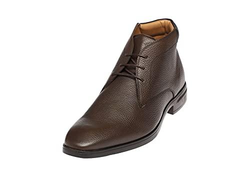 BioFlex Zapatillas clásicas para hombre Alaska Busines   Piel de alta calidad con plantilla de espuma viscoelástica, tallas 40-46, marrón oscuro, 44 EU