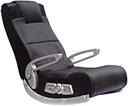 X Rocker II SE 2.1 Black Leather Floor Video Gaming Chair for Adult, Teen, and Kid Gamers with Armrest and Headrest - High Tech Audio and Wireless Capacity - Ergonomic Back Support