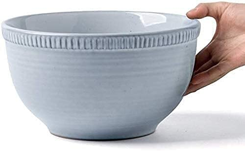 KMILE Copa de cerámica Fruta Bocadillo pastelería Bandeja Placa de Ensalada Restaurante Restaurante vajilla agitando Utensilios 23.2x12.2x12cm Pasta Bowls