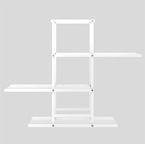 JCRNJSB® Porte-fleurs, étagères en bois, salon, balcon, étagère, étagère, pot de fleurs, quatre étages, 98 × 26 × 80 cm Pliable, support de fleurs ( Couleur : Blanc )