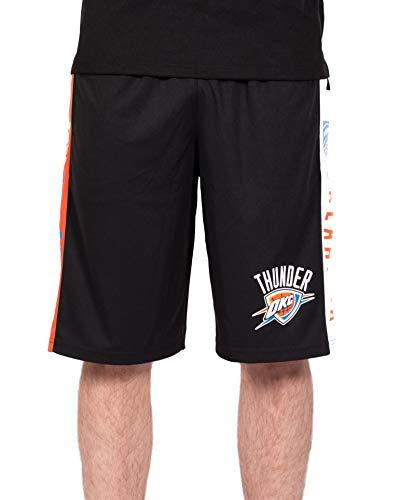 Ultra Game NBA Oklahoma City Thunder Mens Mesh Basketball Shorts, Black, Small