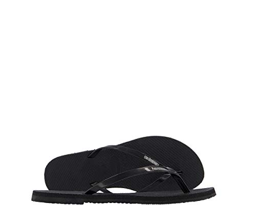 Havaianas Damen You Metallic Zehentrenner, Schwarz (Black), 35/36 EU