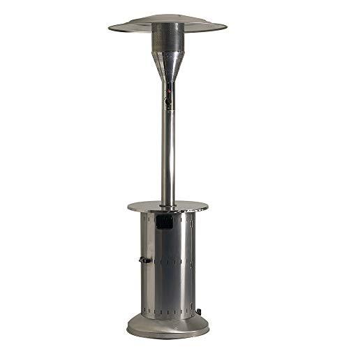 FAVEX - Parasol Chauffant gaz - Commercial INOX - Extérieur - 4 à 15 KW - 20m² - 88 x 88 x 230 cm