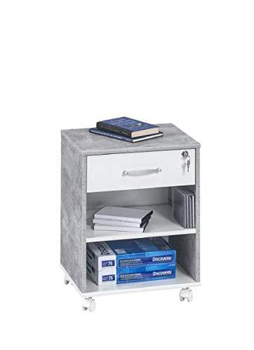 RASANTI Rollcontainer Office 4025 von Maja Beton/Weiß