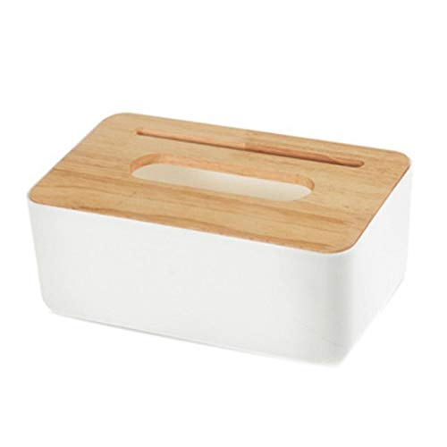 Aiovemc Oak Tissue Box Tissues Storage Container Creative Mobile Phone Holder for Home Bedroom Living Room Bathroom Car