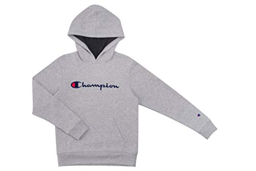 Champion Kids Clothes Sweatshirts Youth Heritage Fleece Pull On Hoody Sweatshirt with Hood  (Small, Heritage Oxford Heather)
