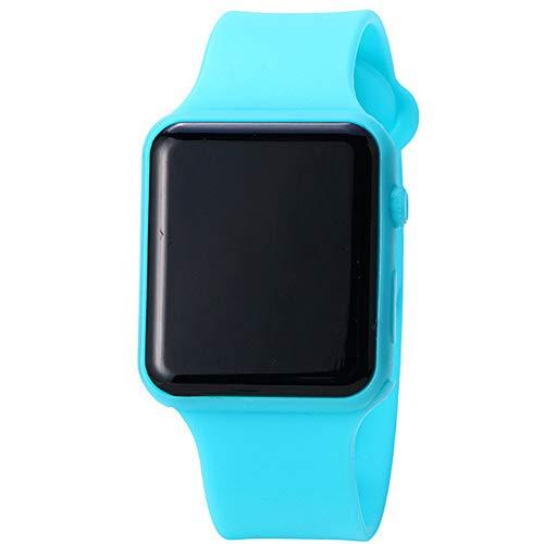 NaiCasy - Orologio da polso per studenti, con cinturino in silicone, display digitale a LED, stile casual, colore: Blu (batteria inclusa)