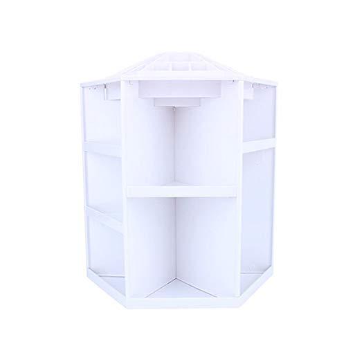 360 ° Rotation Maquillage Organiseur Boîte de Rangement en Plastique Cosmétique Make Up Case Boîte à Bijoux Rouge à lèvres Brosse Support Boîtes de Rangement