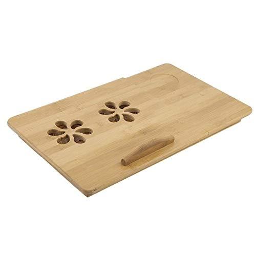 GIAO Mesa Auxiliar con Ruedas para Cama y Sofá Muebles clásica portátil Ajustable del Ordenador portátil Plegable de bambú Tabla Sofá Laptop Stand Escritorio del Ordenador portátil Tabla