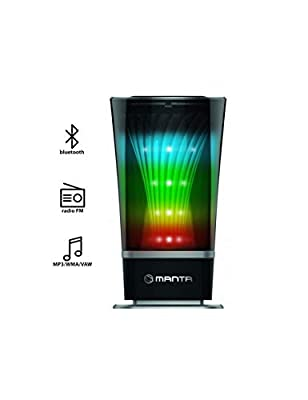 SPK305 SKYLIGHT Bluetooth speaker wireless, Hands-free, FM radio with LED effects from MANTA