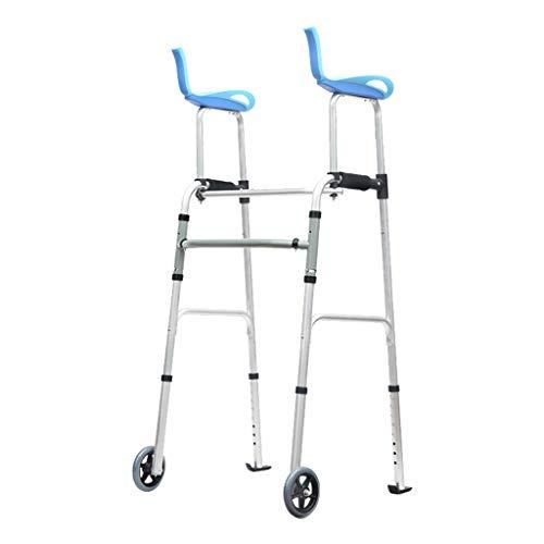 ER-ye Gehhilfe Mit Armrohr, Ältere Personen Armlehnen Reha-Training Gehhilfe Gehhilfe Gehhilfe Mit Rädern + Mit Stützarm + Mit Rollen (ohne Sitz) (Color : A(Without seat))