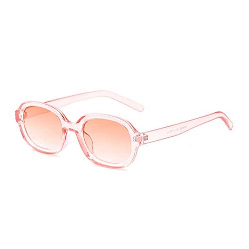 YHKF Gafas De Sol Ovaladas para Mujer Gafas De Sol De Montura Pequeña Gafas De Sol Vintage para Mujer Gafas De Sol para Mujer-Rosa