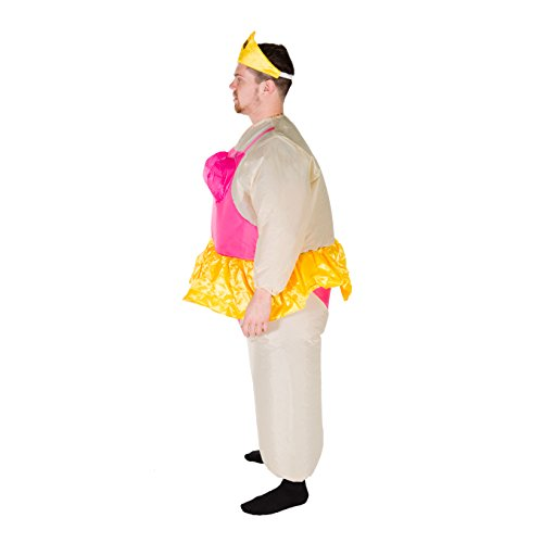 Pink Ballerina Dancer Inflatable Costume for Adults (One Size)