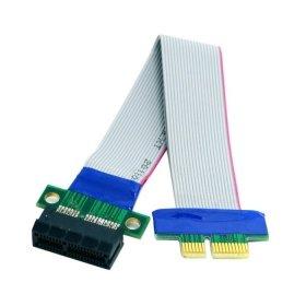 cablecc PCI-E Express 1X Slot Riser Card Extender Erweiterung Ribbon Flex umstellen Kabel 20cm